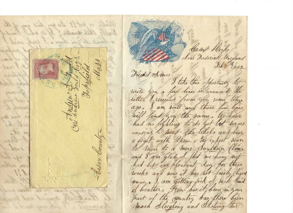 Civil War Letter to Andrew A Gould from John M Philips – Transcription