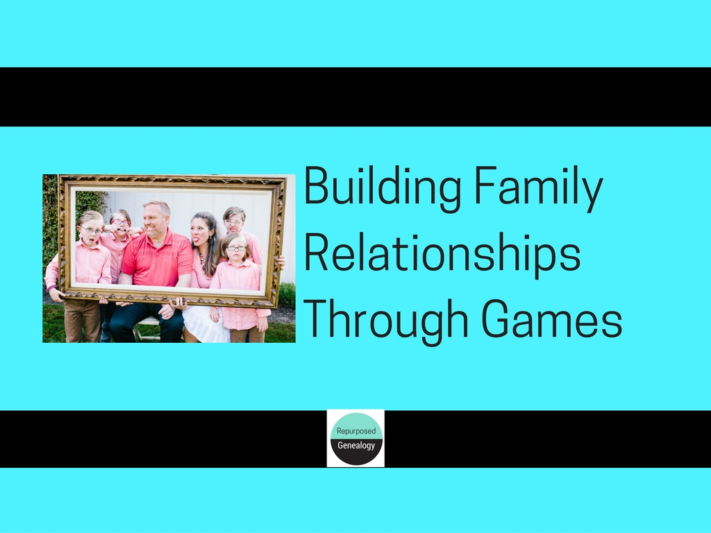 Building family relationships through games