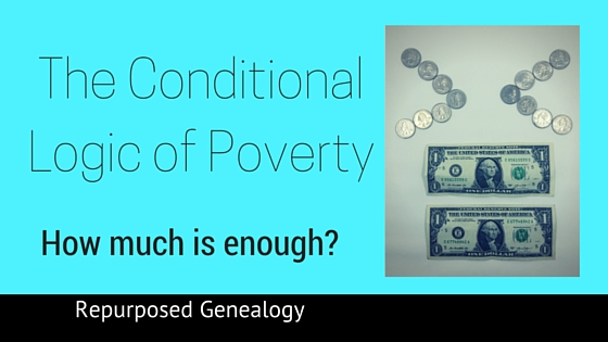 The Conditional Logic of Poverty - Blog title