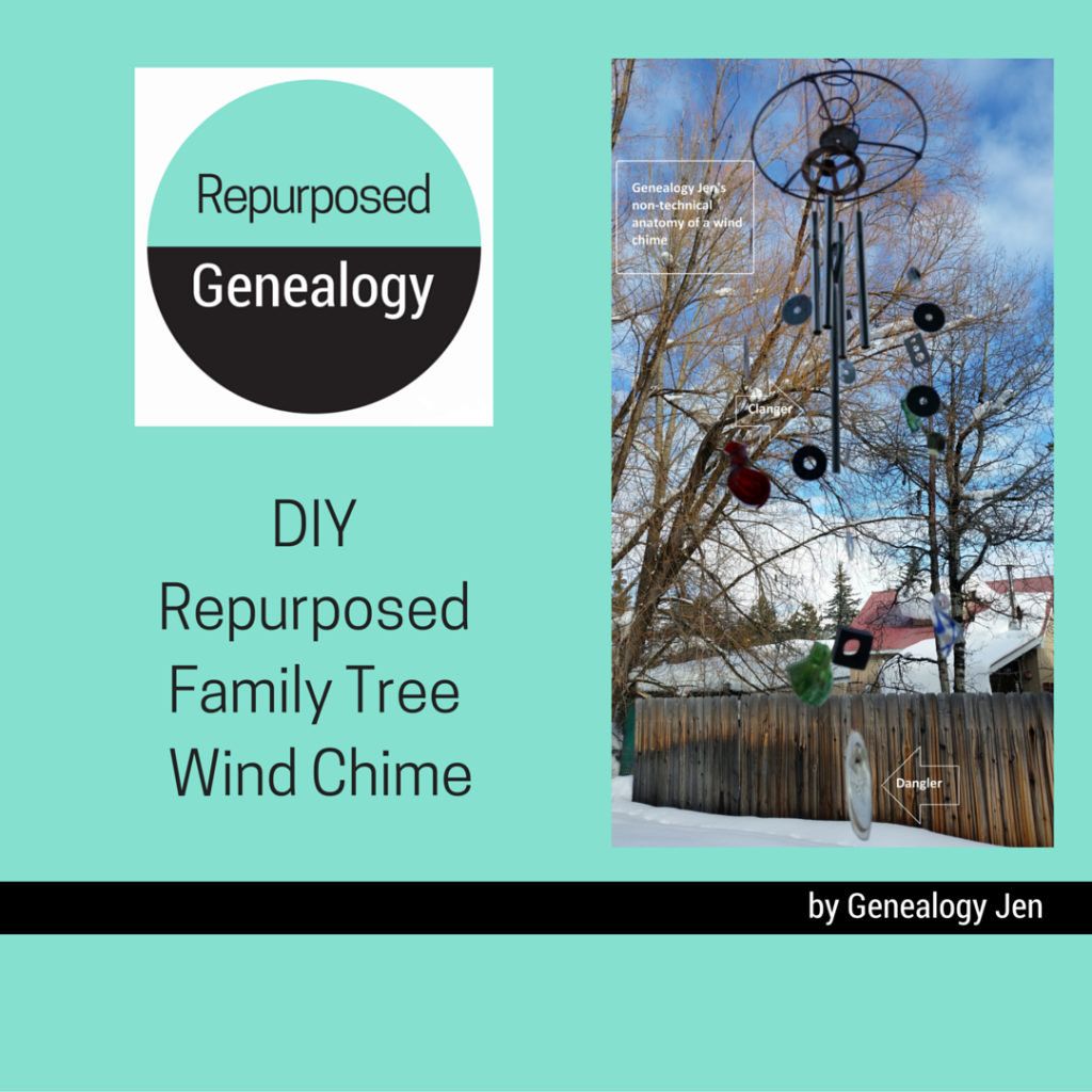 DIY repurposed family tree wind chime
