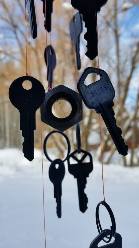 DIY repurposed key wind chime