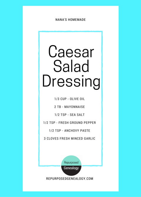 DIY Caesar salad dressing