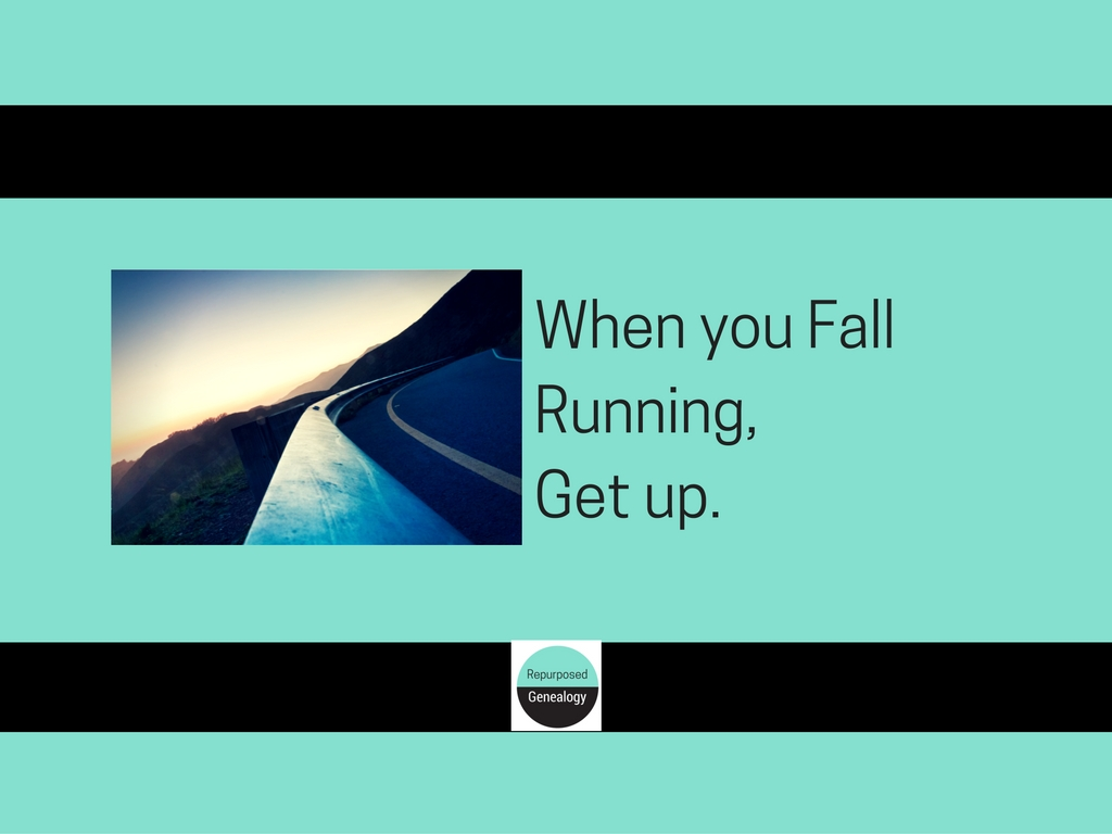 When you fall running, get up (1)
