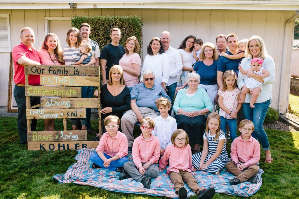Kohler family reunion August, 2016