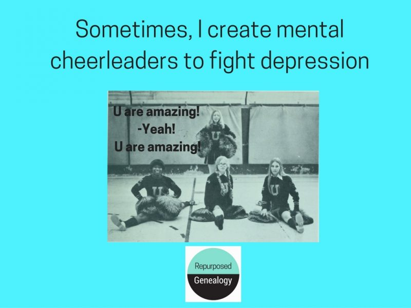 I create mental cheerleaders to fight depression