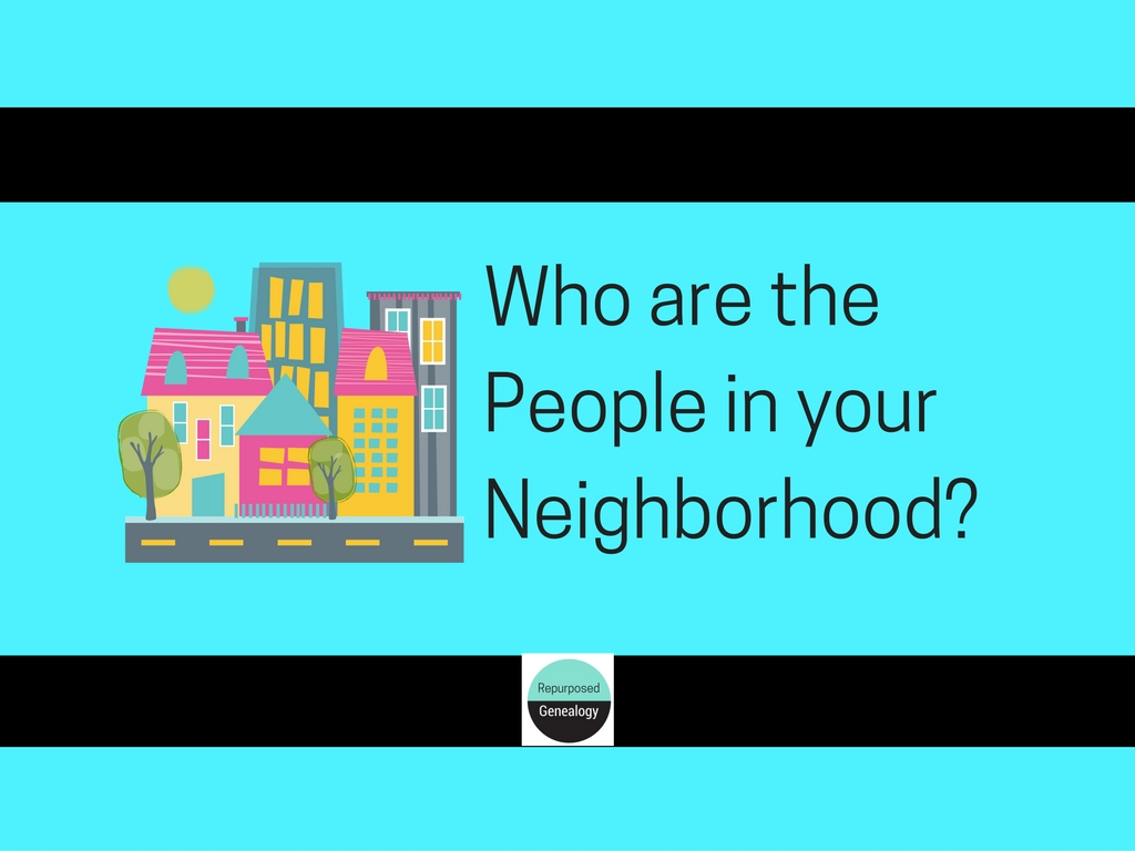 Getting to Know the People in my Neighborhood