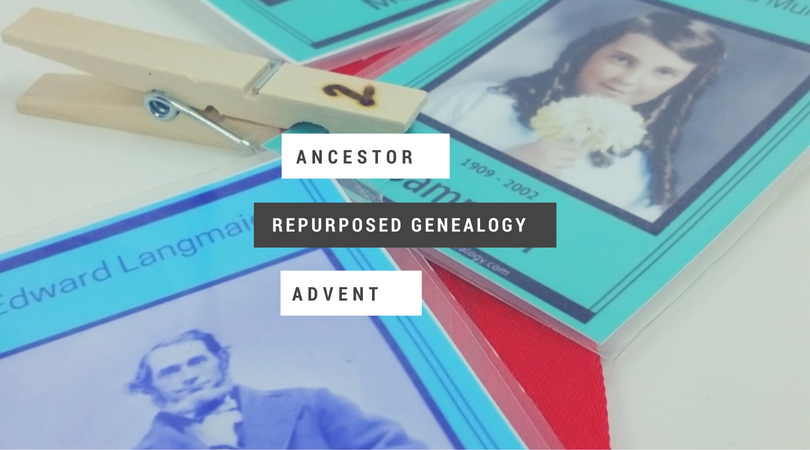 DIY Ancestor Cards Advent