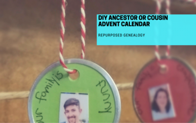 DIY Ancestor or Cousin Advent Calendar