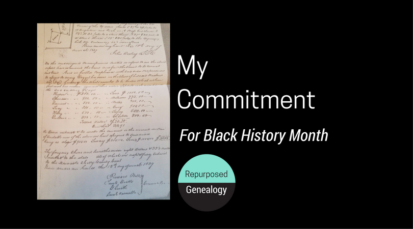 My Commitment for Black History Month