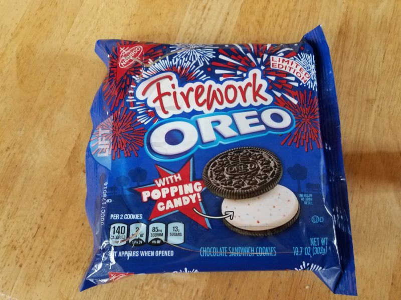 firework oreos, pop rock cookies