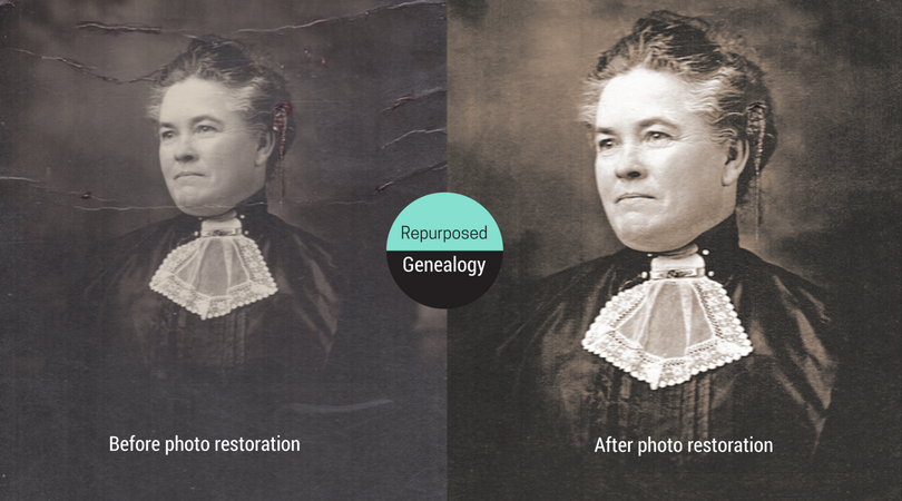 Emeline Millard Ross, digital photo restoration