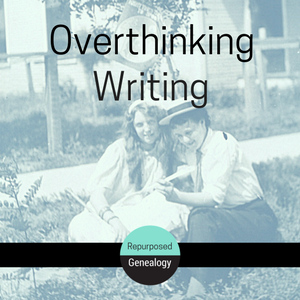 Vintage photo, 2 women reading, overthinking writing