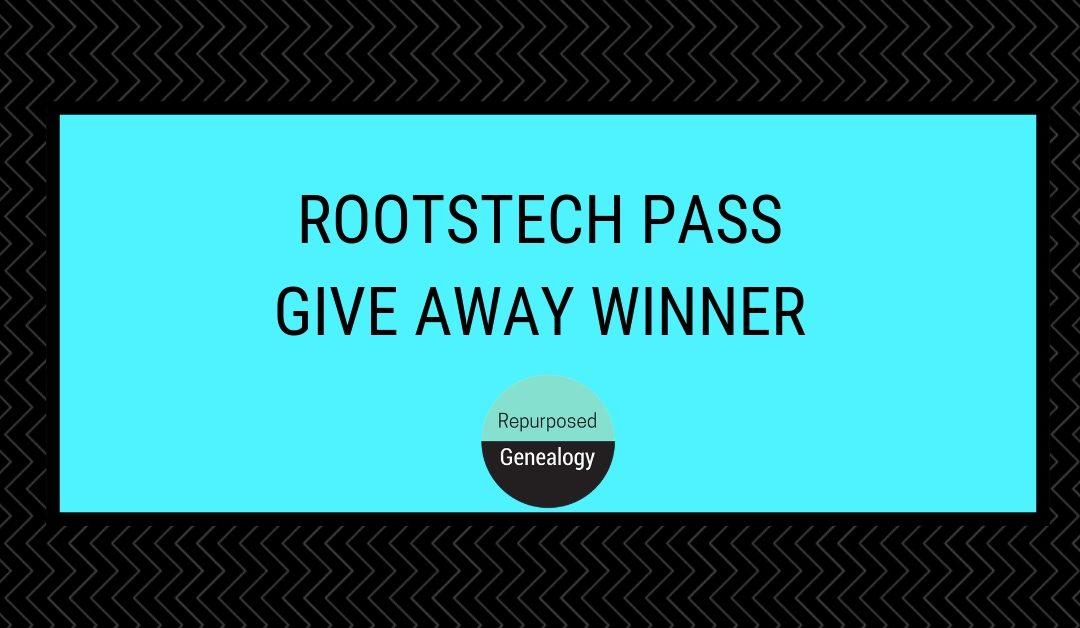 RootsTech Pass Give Away Winner