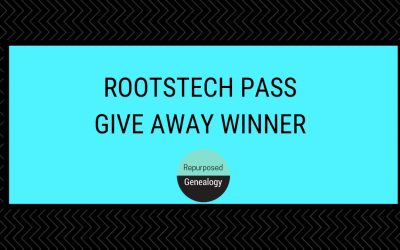 RootsTech Pass Give Away Winner