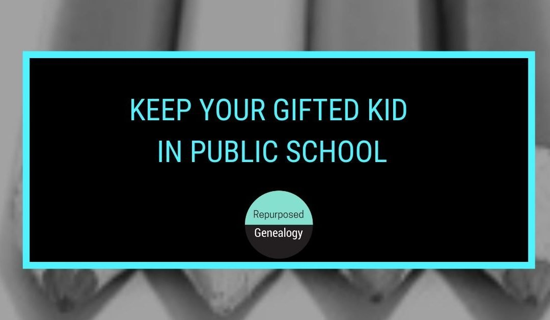 The case for keeping your gifted child in Public School